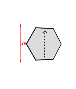 Алмазная мозаика шестиугольник 40 см